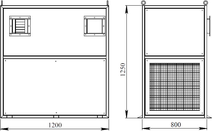 Габаритный чертеж КК10,0-2,0